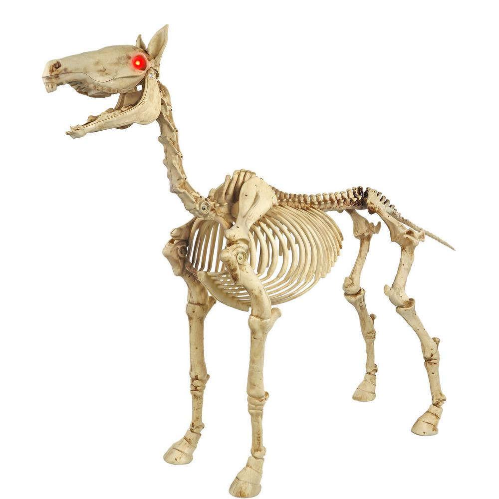 Home Accents Holiday 52 In Standing Skeleton Pony With Led