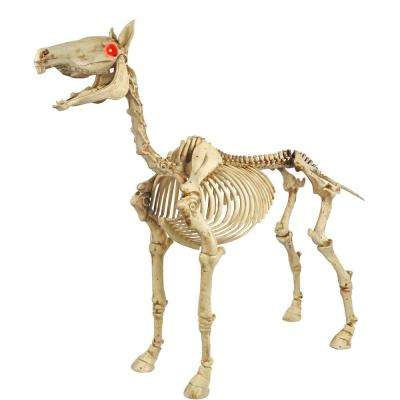 52 in. Standing Skeleton Pony with LED Illuminated Eyes
