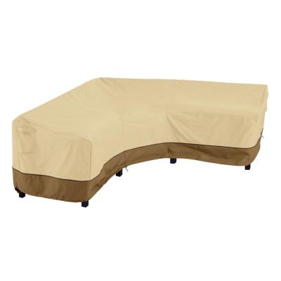 Veranda 115 in. L x 33.5 in. W x 31 in. H V-Shaped Sectional Lounge Set Cover