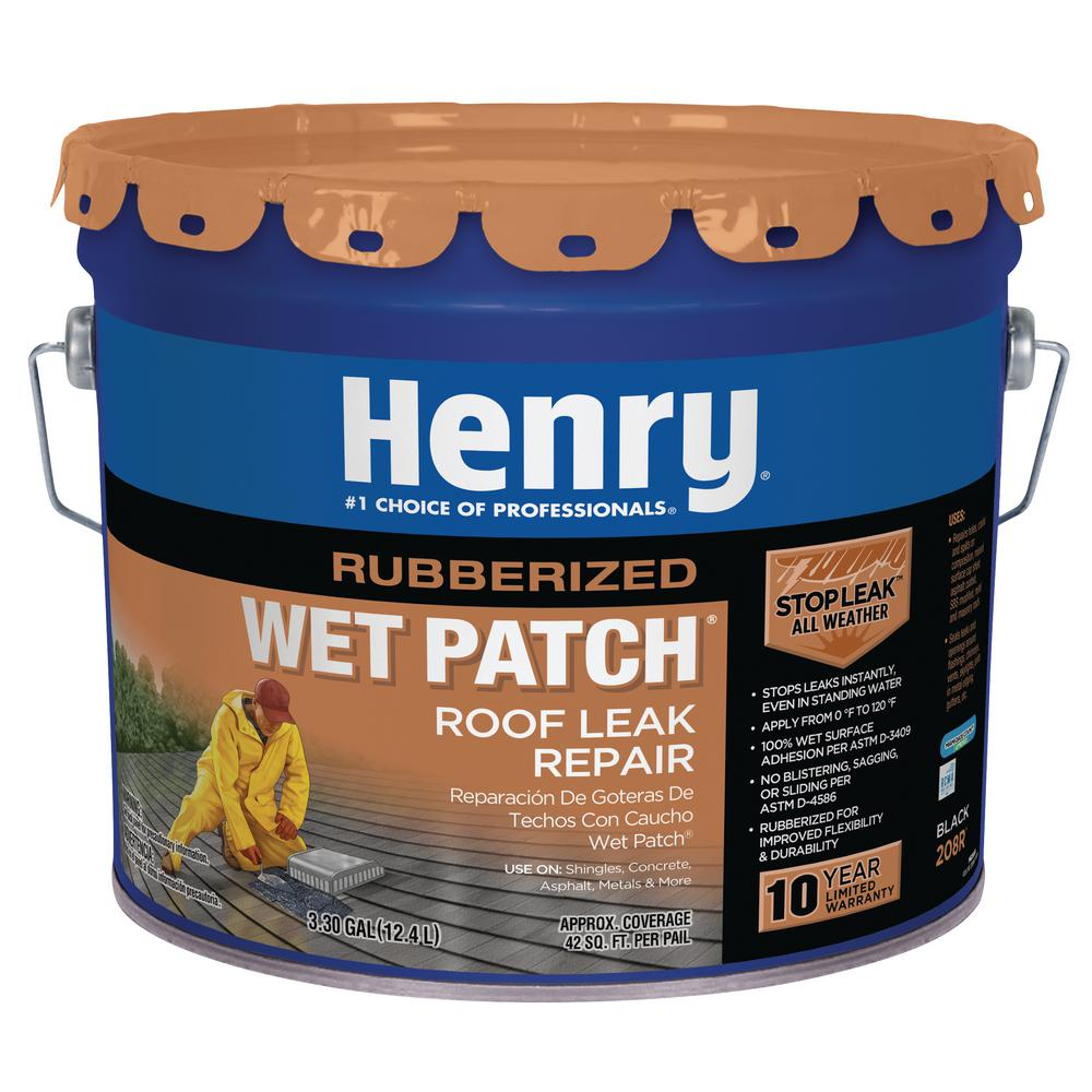 Henry 3.30 Gal. 208R Rubberized Wet Patch Roof Leak Repair