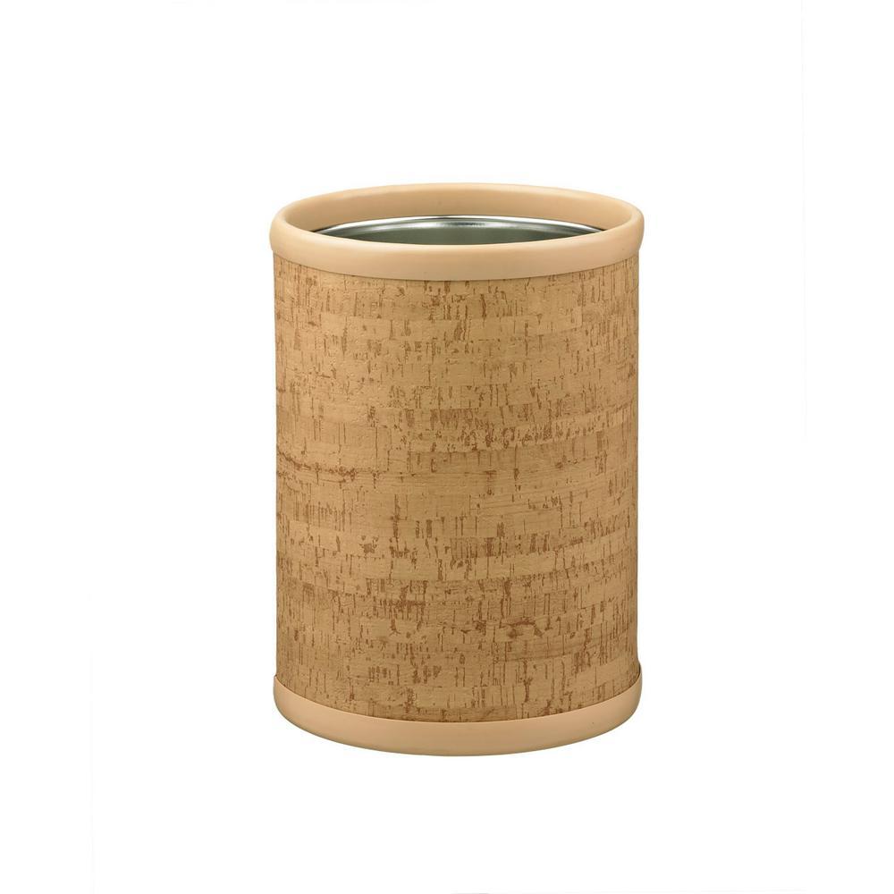 Natural Cork 8 Qt. Round Waste Basket