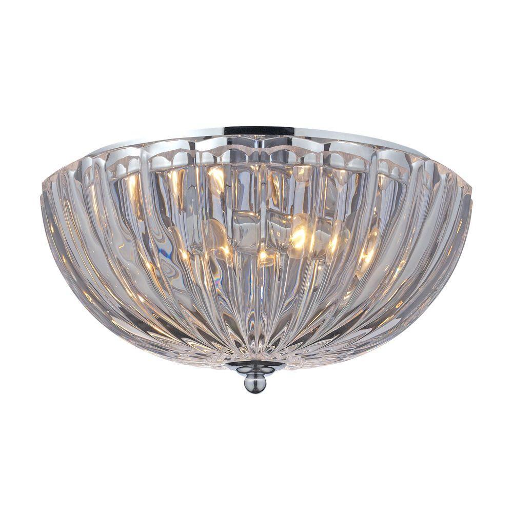 High Resolution Quality Ceiling Fans 2 Home Depot Ceiling: Titan Lighting Crystal Flushmounts 2-Light Polished Chrome