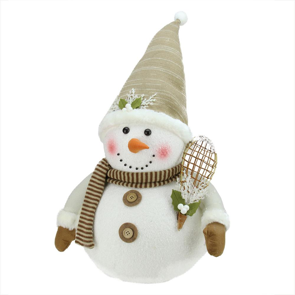 ab558cc62a610 20 in. Snowman with Snow Shoes and Mistletoe Christmas Decoration-31730398  - The Home Depot