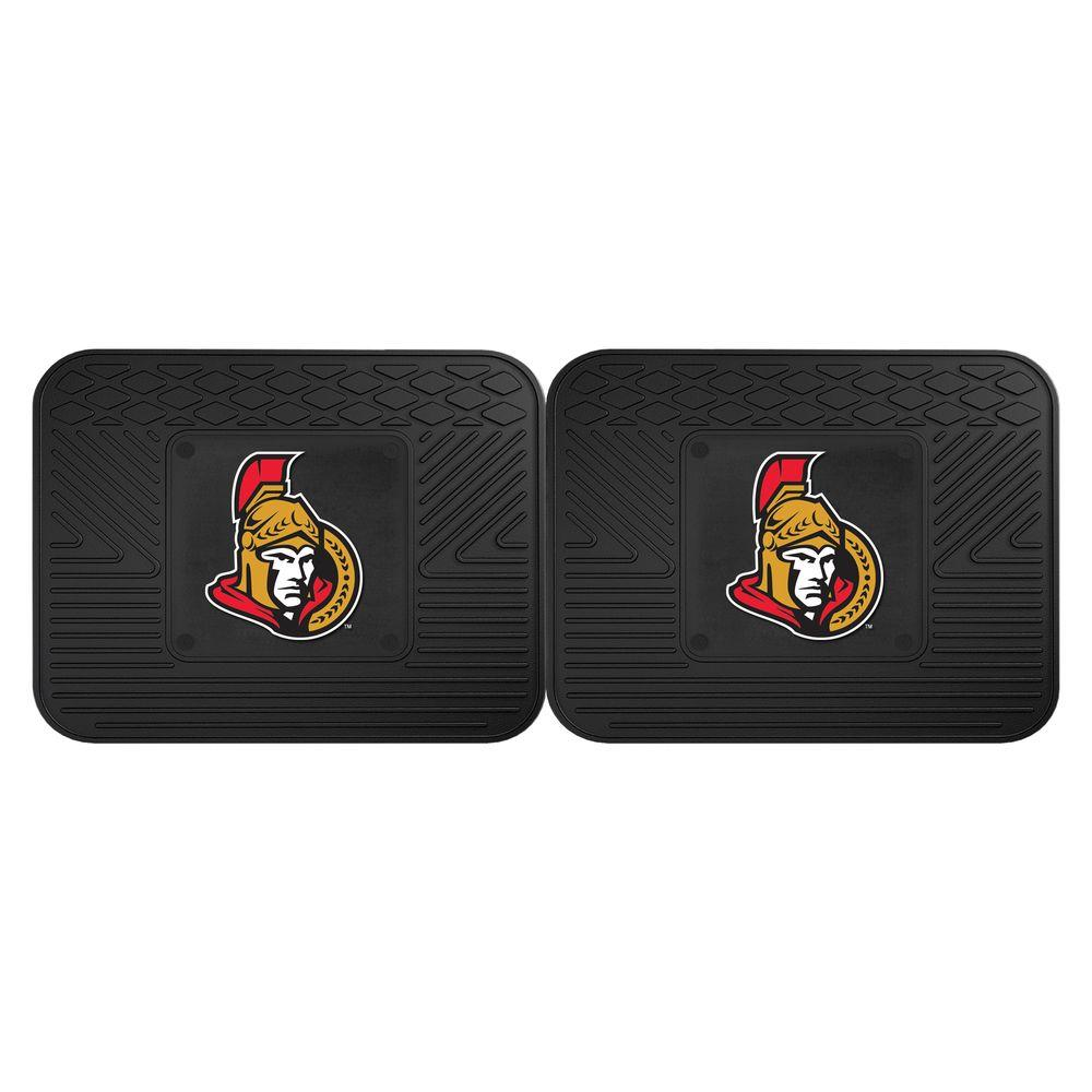 Fanmats Nhl Ottawa Senators Black Heavy Duty 14 In X 17
