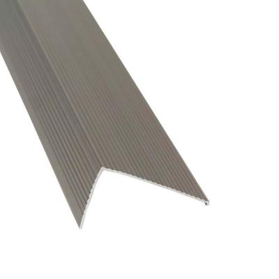 TH026 Sill Nosing 2.75 in. x 1.5 in. x 36 in. Gray Satin Nickel Weatherstrip