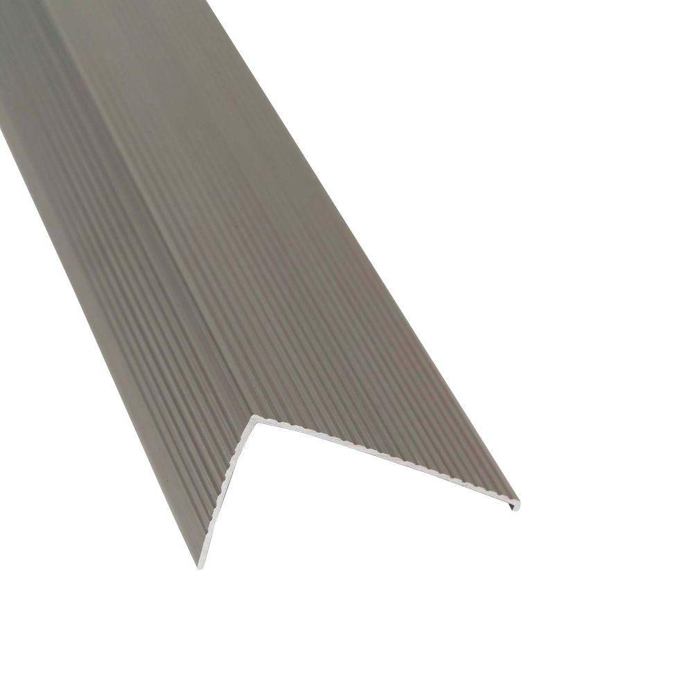 TH026 Sill Nosing 2.75 in. x 1.5 in. x 36 in. Gray Satin Nickel Weatherstrip