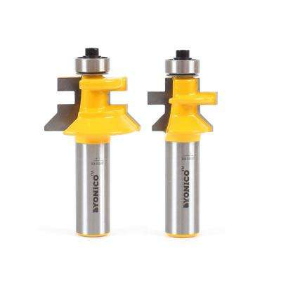 Tongue and Groove Flooring Up to 3/4 in. Stock 1/2 in. Shank Carbide Tipped Router Bit Set (2-Piece)