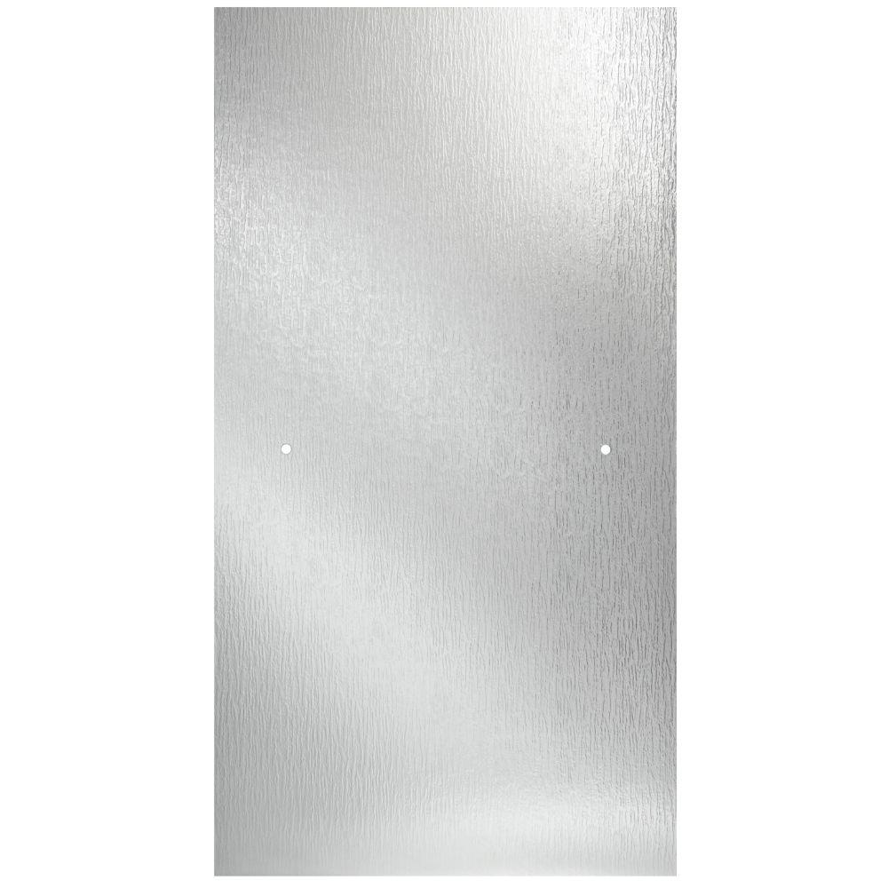 33 in. Semi-Frameless Contemporary Pivot Shower Door Glass Panel in Rain