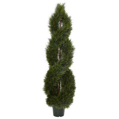 5 ft. Pond Cypress Spiral Topiary UV Resistant (Indoor/Outdoor)