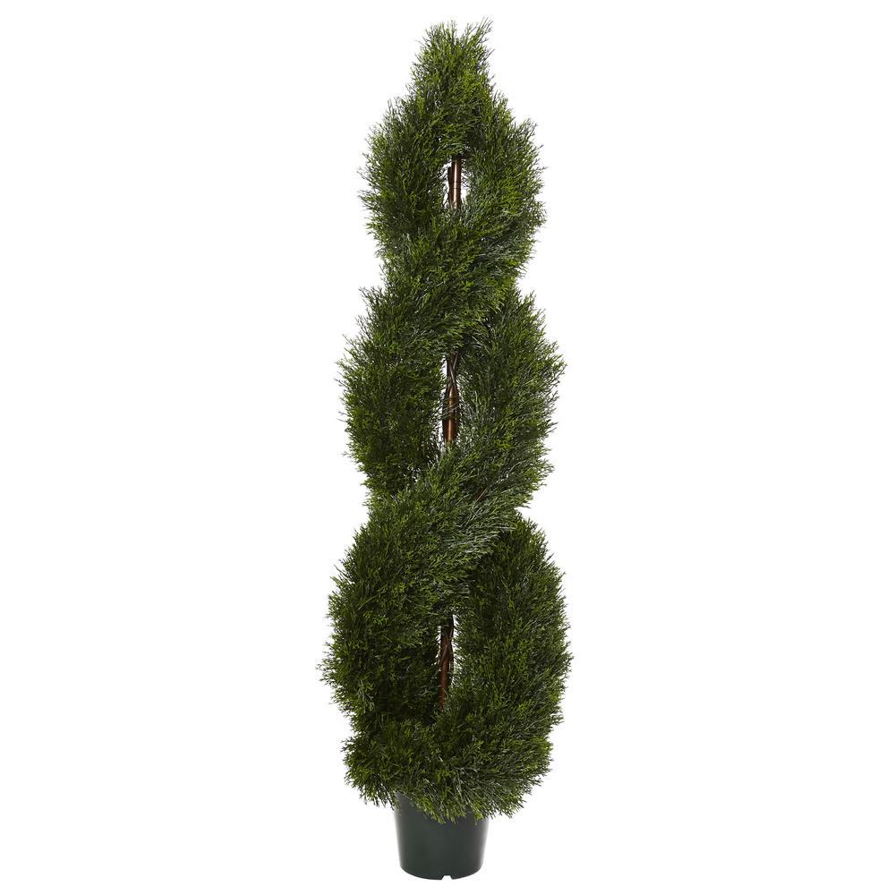 5 ft. Pond Cypress Spiral Topiary UV Resistant (Indoor/Outdoor)