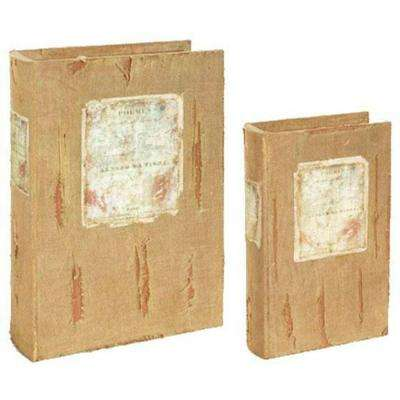 Natural Book Boxes (Set of 2)