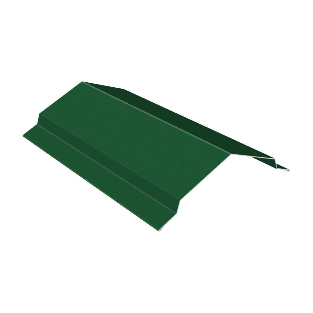 Construction Metals 10 ft. Ridge Cap Flashing Forest Green
