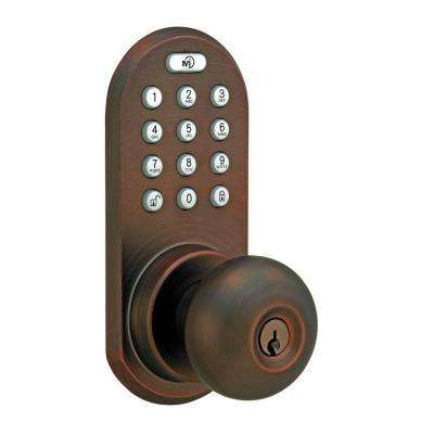 Oil-Rubbed Bronze Touch Pad and Remote Electronic Entry Knob