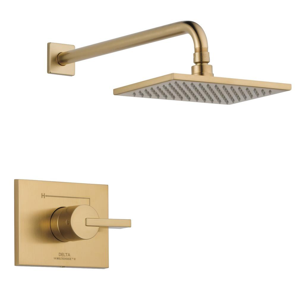 Delta Vero 1-Handle Shower Faucet Trim Kit in Champagne Bronze (Valve Not Included)
