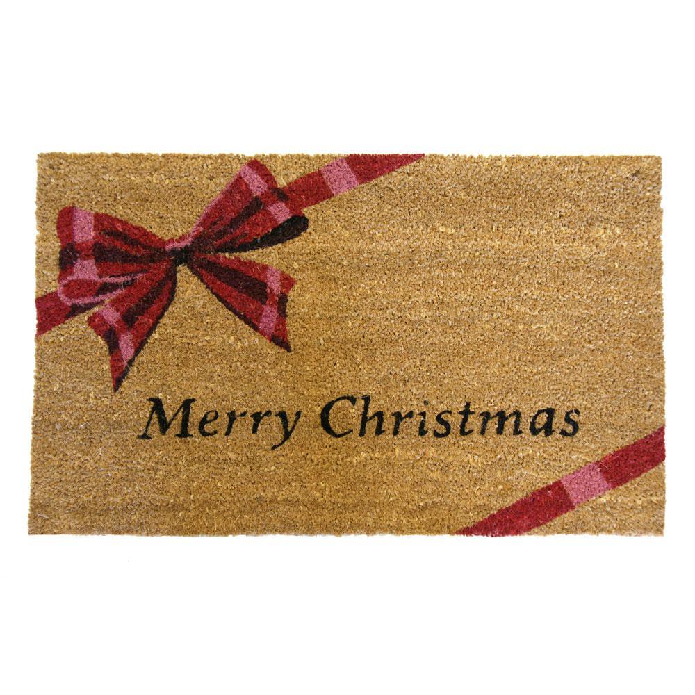 A Gift Merry Christmas 18 in. x 30 in. Door Mat