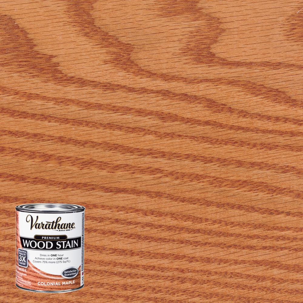 Varathane 1 qt. Colonial Maple Premium Fast Dry Interior Wood Stain