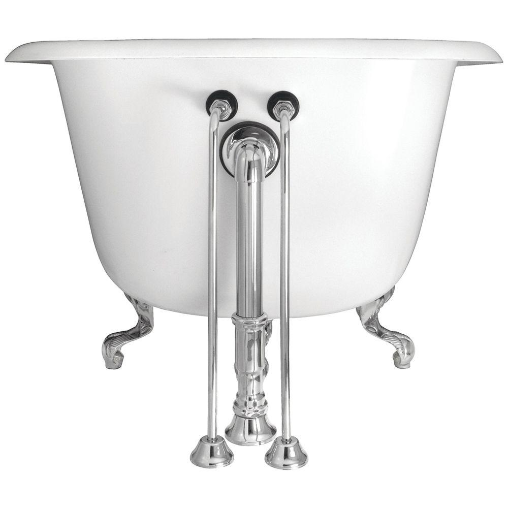 22 in. Brass Single Offset Bath Supplies in Chrome