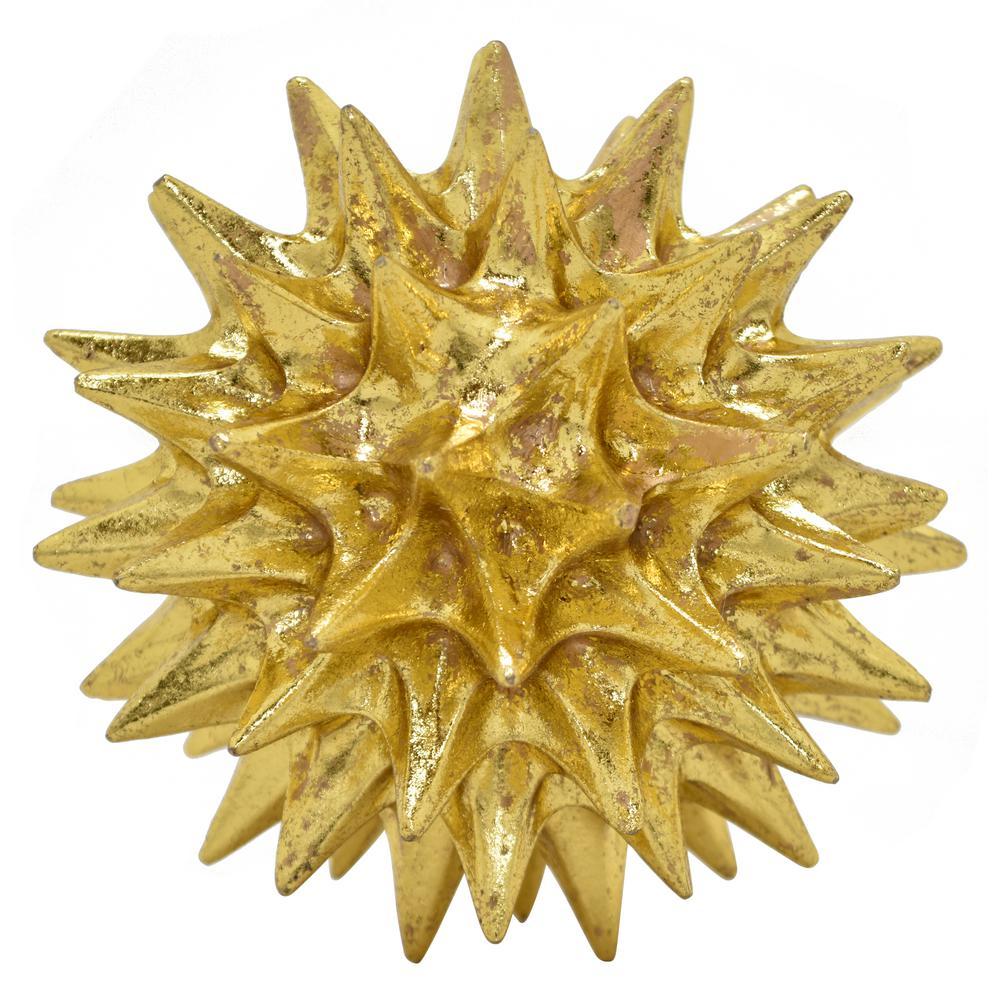 6.75 in. Spike Orb Tabletop in Gold