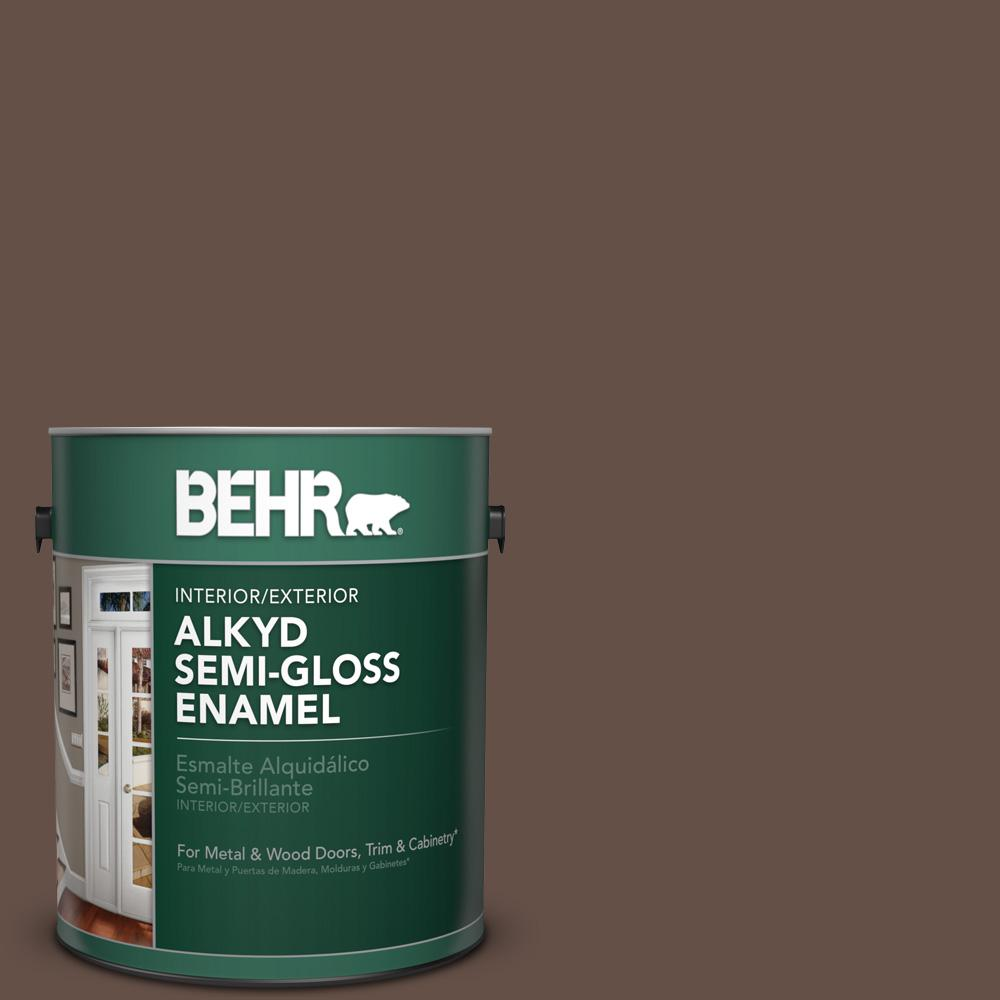 1 gal. #BXC-79 Center Earth Semi-Gloss Enamel Alkyd Interior/Exterior Paint