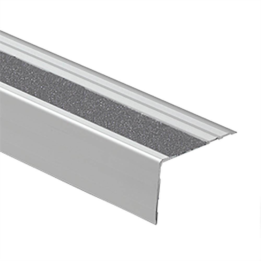 Novopeldano Safety Matt Silver-Grey 2-1/2 in. x 98-1/2 in. Aluminum Tile Edging Trim