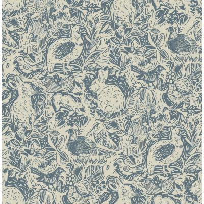 216 in. x 20.5 in. Blue Terrene Peelable and Stick Wallpaper