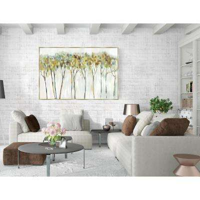 24.75 in. x 36.75 in. 'Marble Forest' by Allison Pearce Fine Art Canvas Framed Print Wall Art