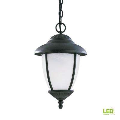 Yorktown Forged Iron 1 Light Outdoor Hanging Pendant With Led Bulb