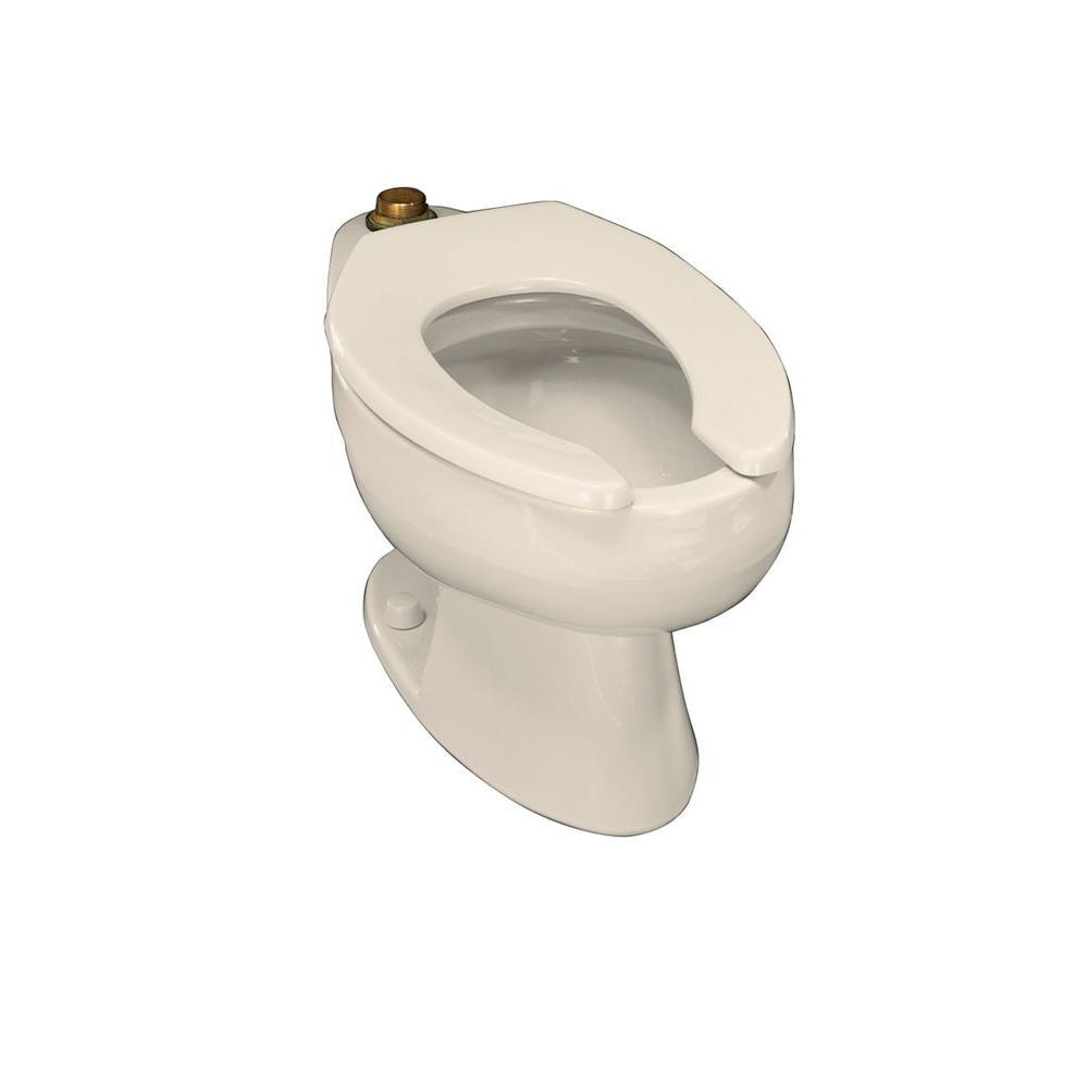 KOHLER Wellcomme Elongated Toilet Bowl Only in Almond