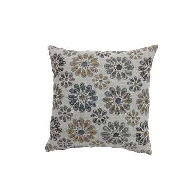 Kyra 22 in. Contemporary Throw Pillow in Grey (Pack of 2)