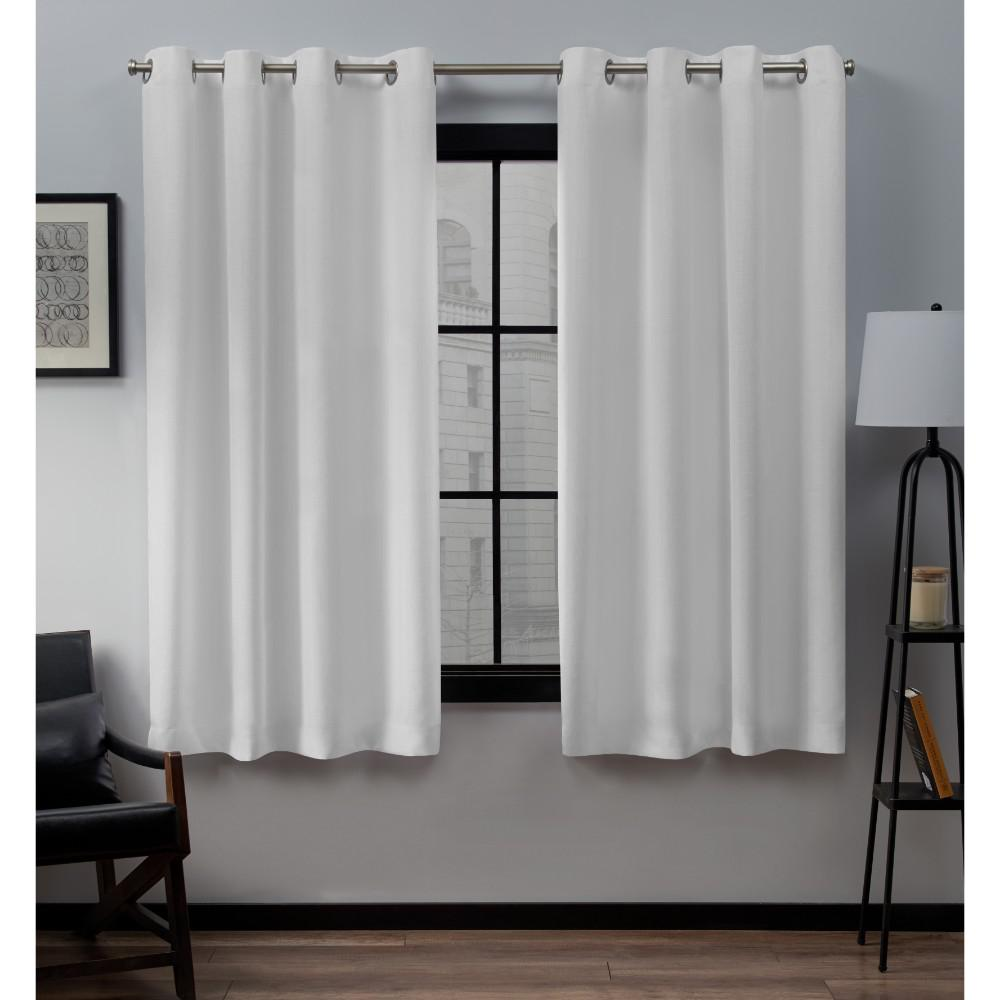 Loha 52 In. W X 63 In. L Linen Blend Grommet Top Curtain