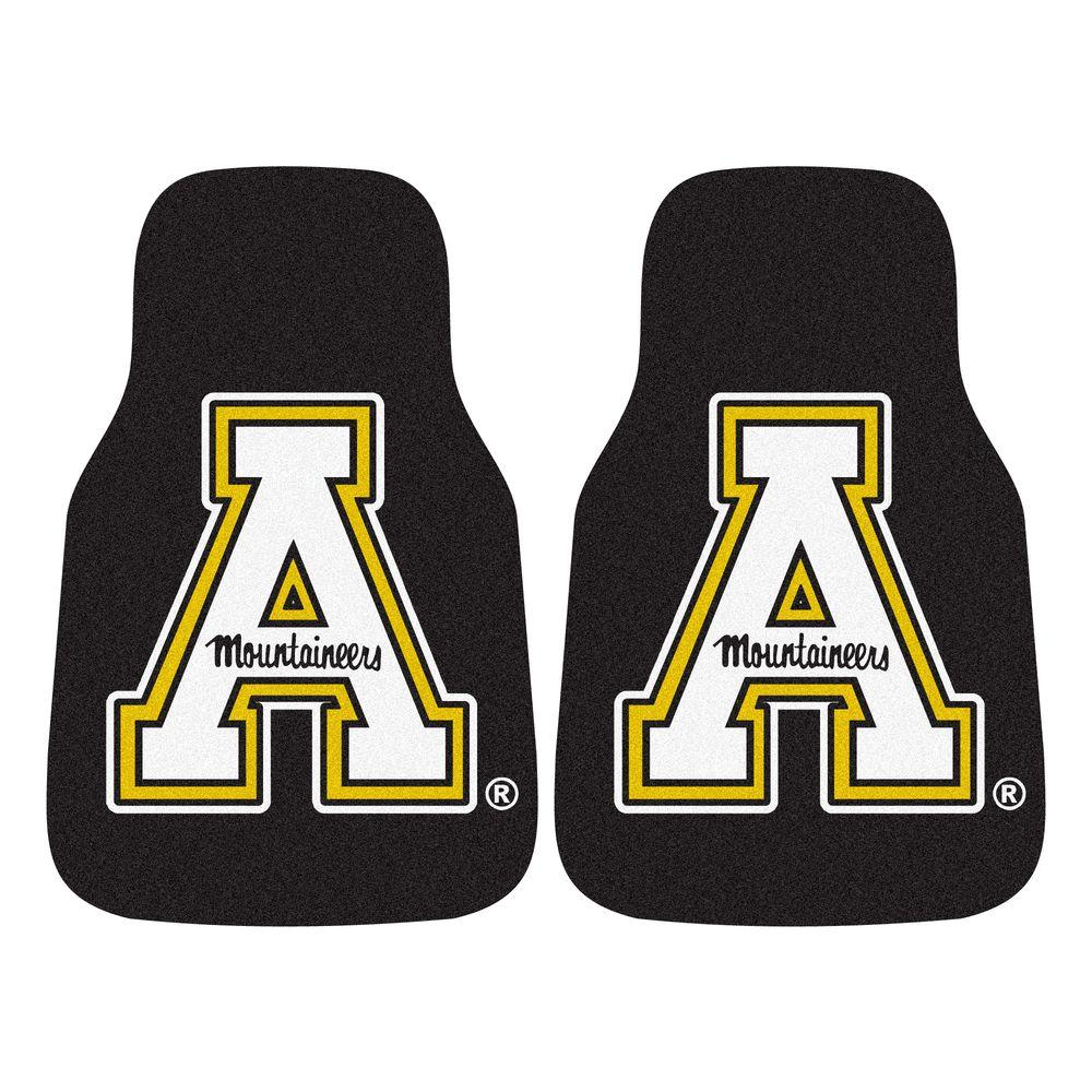 FANMATS Appalachian State University 18 in. x 27 in. 2-Piece Carpeted Car Mat Set