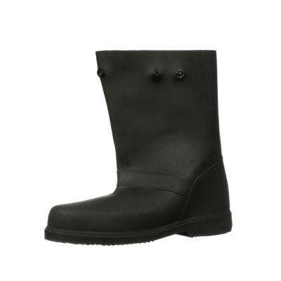 12 in. Sizes 9-10 Men Medium Black Rubber Over-the-Shoe Boots