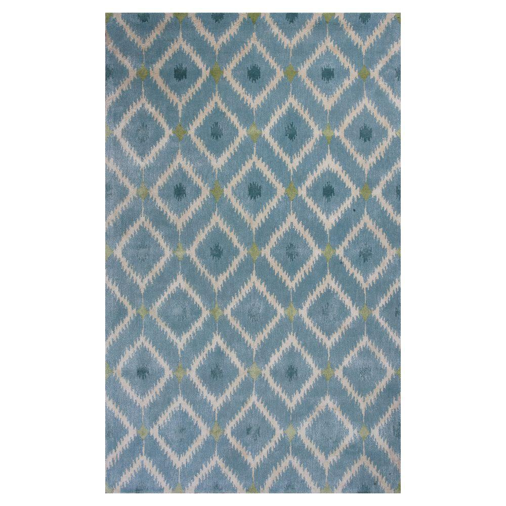 Kas Rugs Bob Mackie Home Ice Blue Mirage 9 Ft X 13 Area Rug BMH10189X13 The Depot