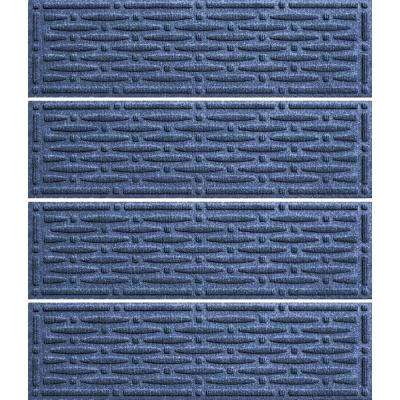 Navy 8.5 in. x 30 in. Mesh Stair Tread Cover (Set of 4)