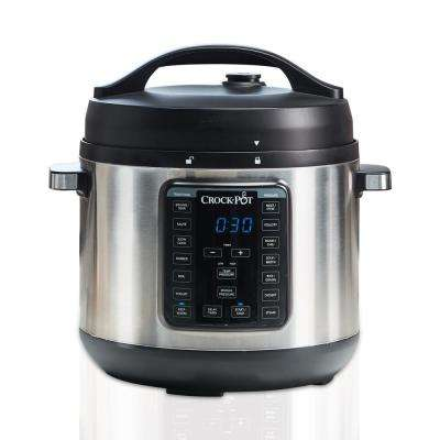 Express Crock 8 Qt. Stainless Steel Electric Multi-Cooker