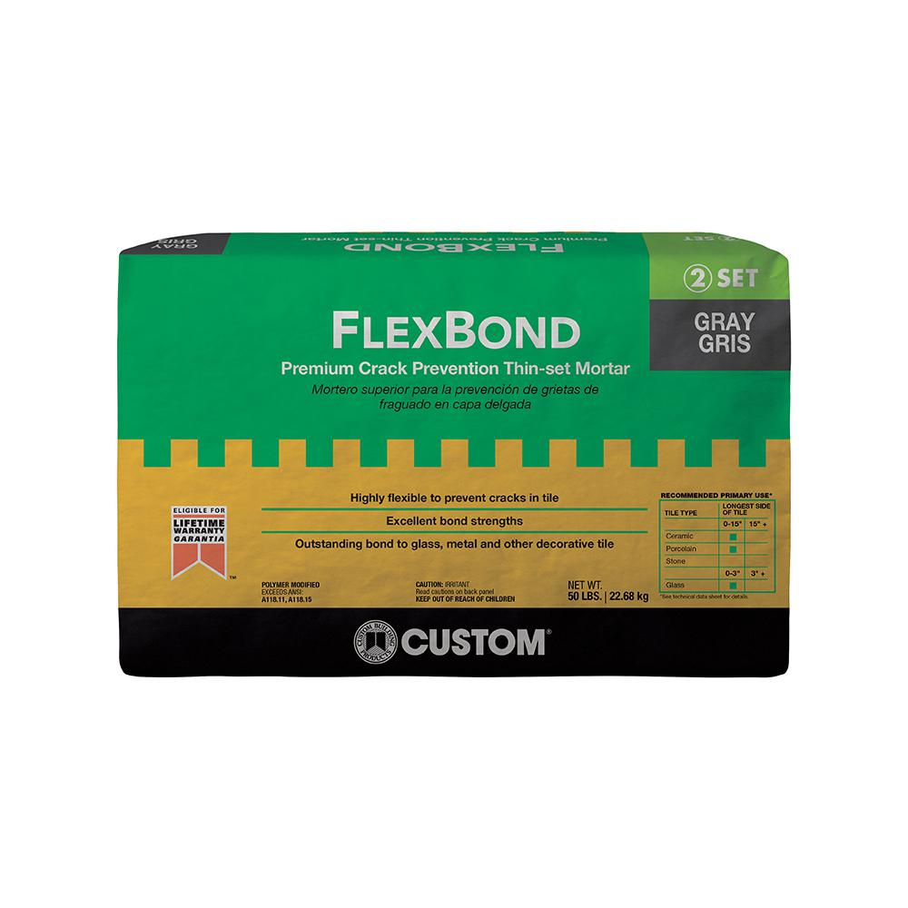 Custom Building Products FlexBond Gray 50 lb  Fortified Thin-Set Mortar