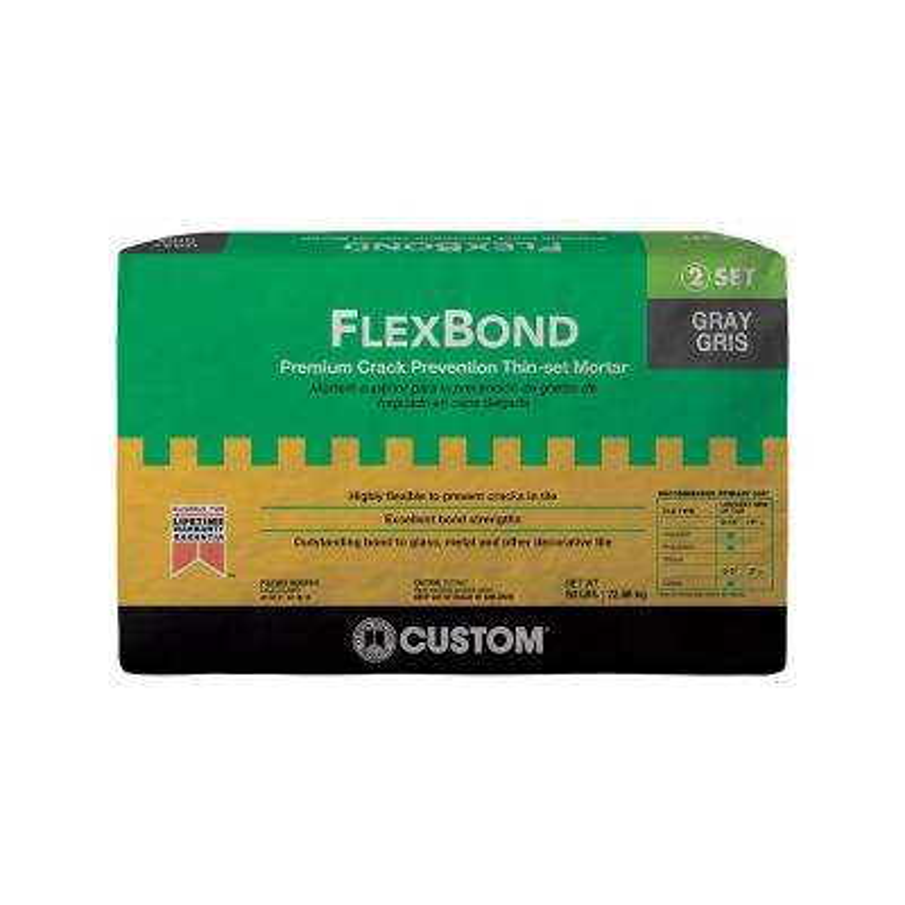 FlexBond Gray 50 lb. Fortified Thin-Set Mortar