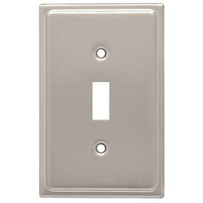Country Fair Decorative Single Switch Plate, Satin Nickel