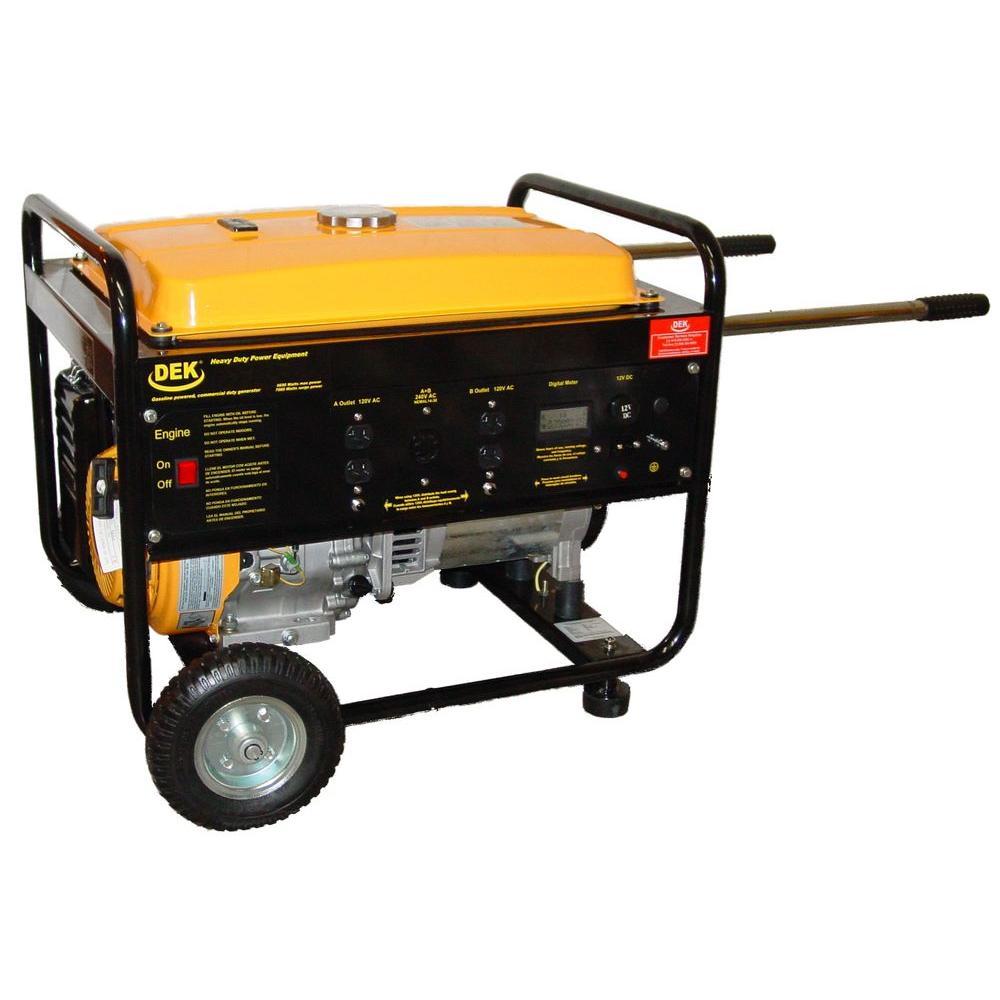 DEK 8,130-Watt, 420cc, 15 HP Commercial Grade Portable Generator by DEK