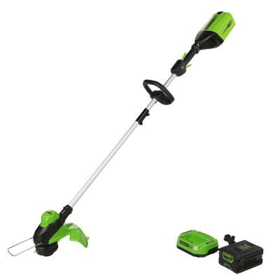 PRO 13 in. 60-Volt Battery Cordless String Trimmer with 2.0 Ah Battery Charger