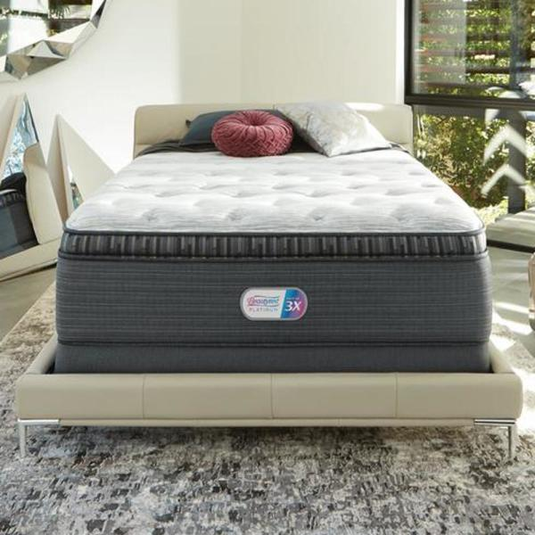 Beautyrest Platinum Haven Pines 16 In Cal King Luxury Firm Pillow Top Low Profile Mattress Set 700800109 9870 The Home Depot