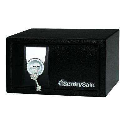 0.35 cu. ft. Steel Security Safe with Key Lock in Black