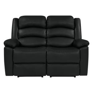 Swell Prolounger Black Tuff Stuff Polyurethane Fabric Loveseat 2 Caraccident5 Cool Chair Designs And Ideas Caraccident5Info