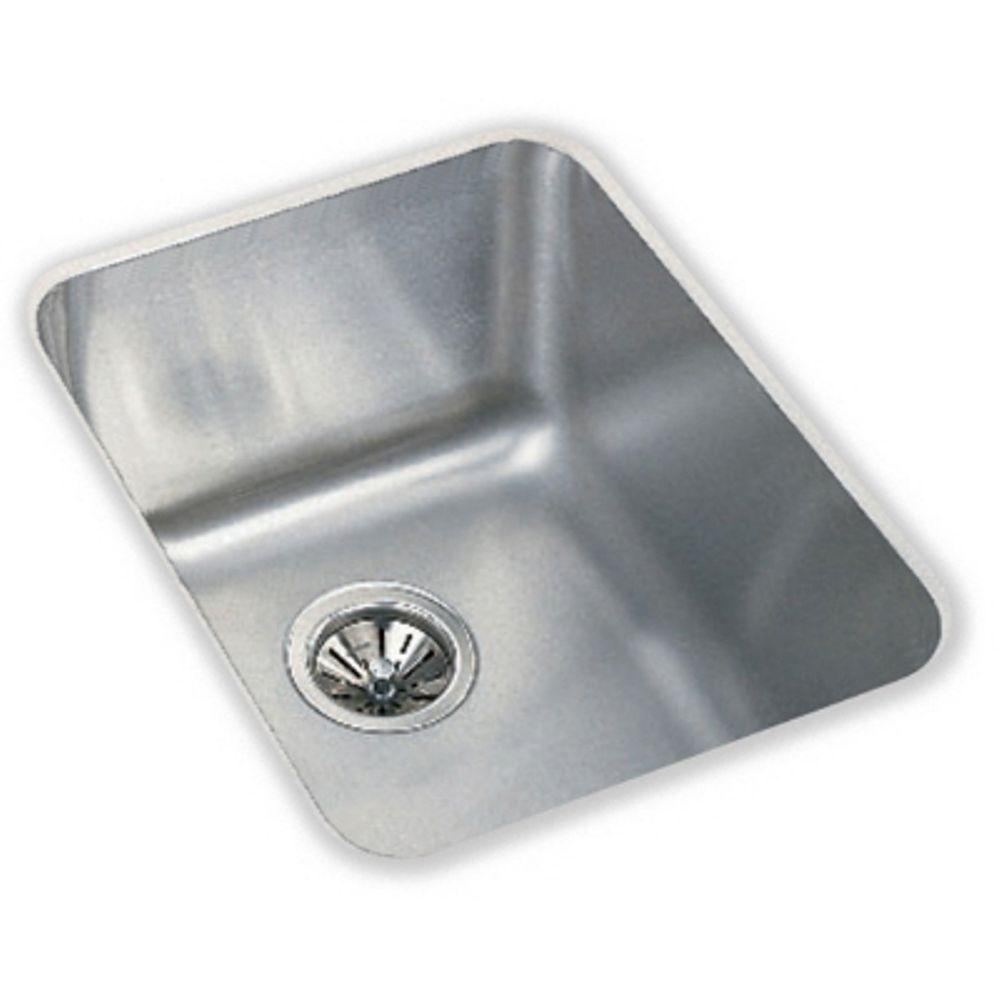 Elkay Kitchen Sinks: Elkay Lustertone Undermount Stainless Steel 17 In. Single