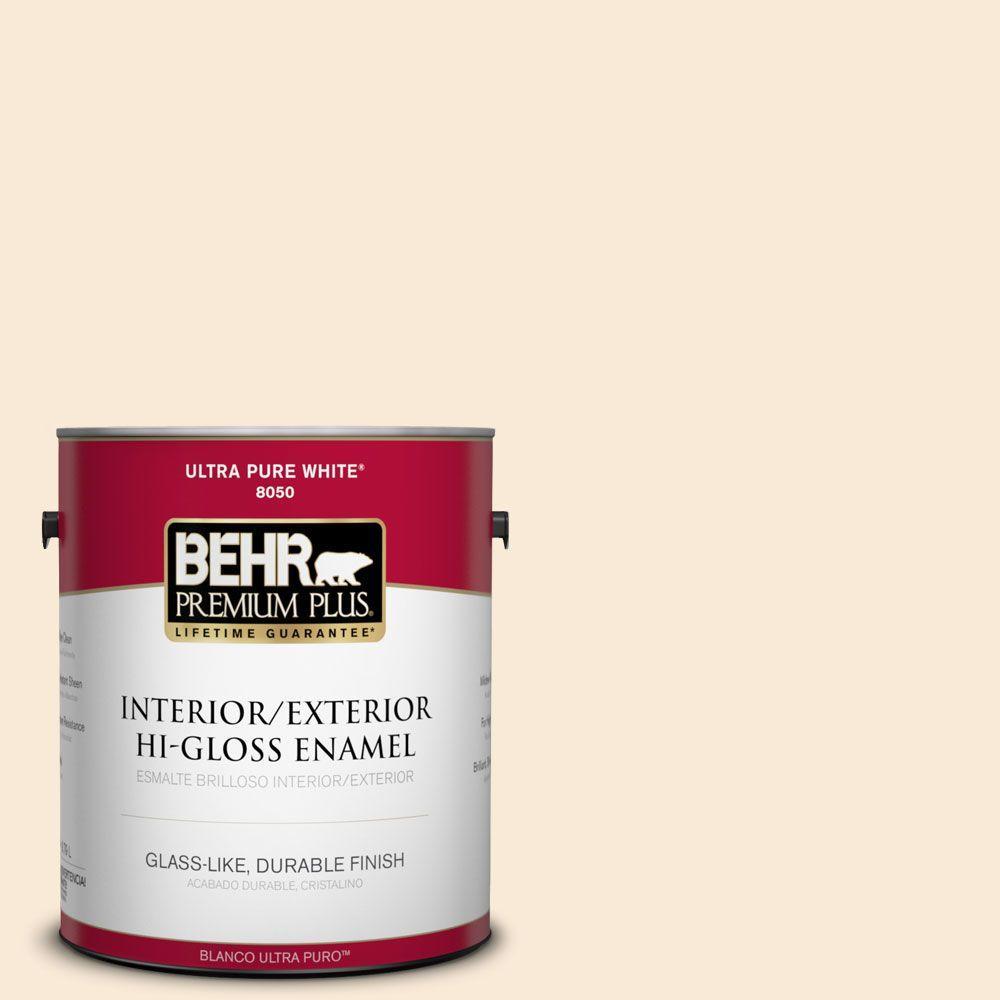 1-gal. #300C-1 Princess Ivory Hi-Gloss Enamel Interior/Exterior Paint