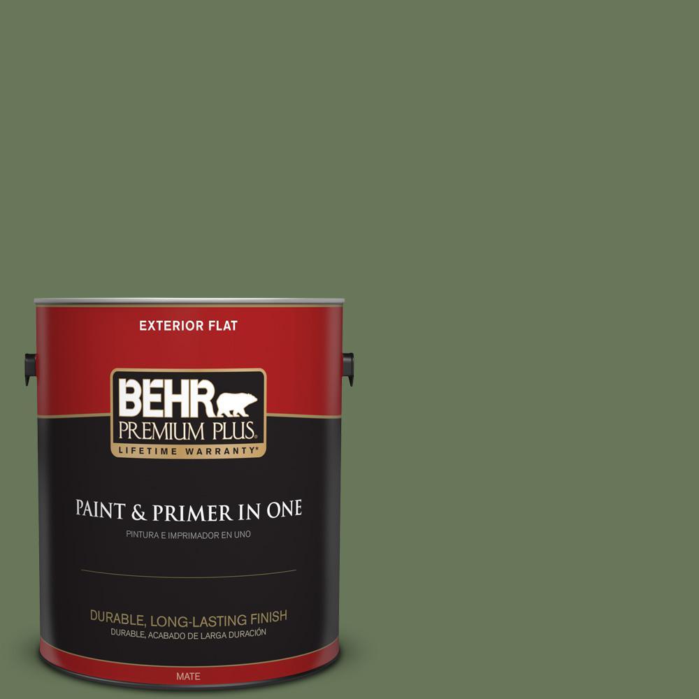 1 gal. #PPU10-01 Scallion Flat Exterior Paint