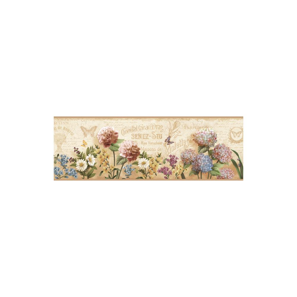 Poste Cream Springtime Trail Wallpaper Border Sample