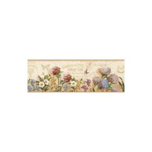 Chesapeake Poste Cream Springtime Trail Wallpaper Border Sample by Chesapeake