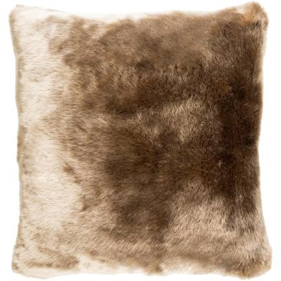 Anselm Tan Solid Polyester 18 in. x 18 in. Throw Pillow