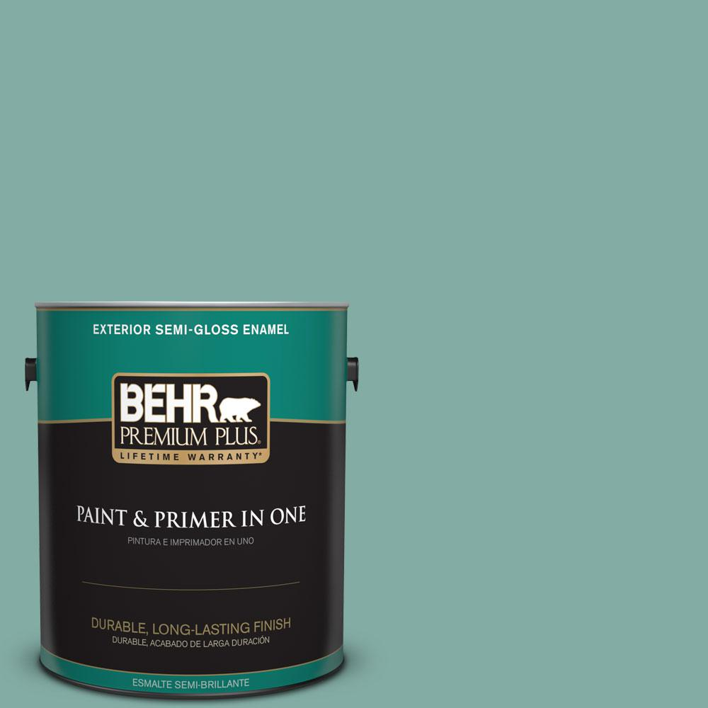 1-gal. #M440-4 Summer Dragonfly Semi-Gloss Enamel Exterior Paint